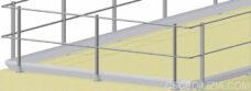 Parapetti in alluminio base orizzontale