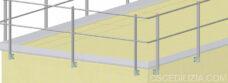 Parapetti in alluminio base verticale